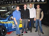 Das Team mit Herrn Sander vom ADAC